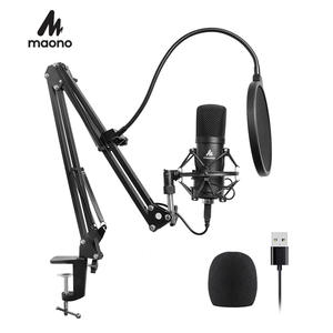 MAONO USB Microphone Kit 192KHZ/24BIT Professional Podcast Condenser Microphone for PC Karaoke Youtube Studio Recording Mikrofon