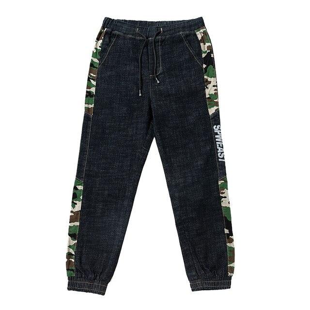 Pantalon Jeans Homme Bande Camouflage 5