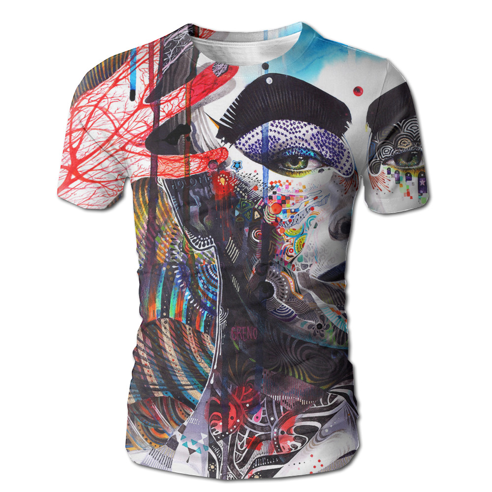 Dutrodu Fashion Boys Graffiti Art Woman Custom Sublimated 3d Full