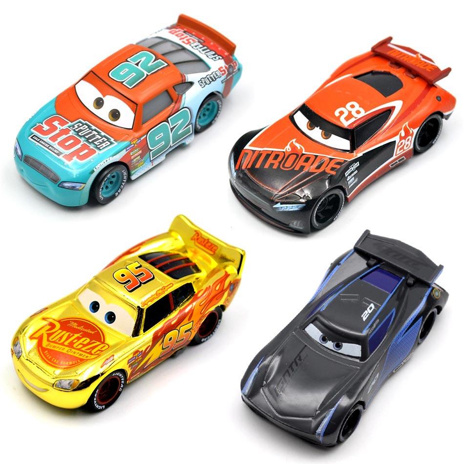 26 Styles Disney Pixar Cars 3 Cal weathers Mater Jackson Storm Ramirez 1:55 Diecast Metal Alloy Model Toy Car Gift For Kids 4 6cm 24pcs lot disney pixar cars 3 lightning mcqueen mater jackson storm ramirez 1 55 diecast abs car model toy gift for boys