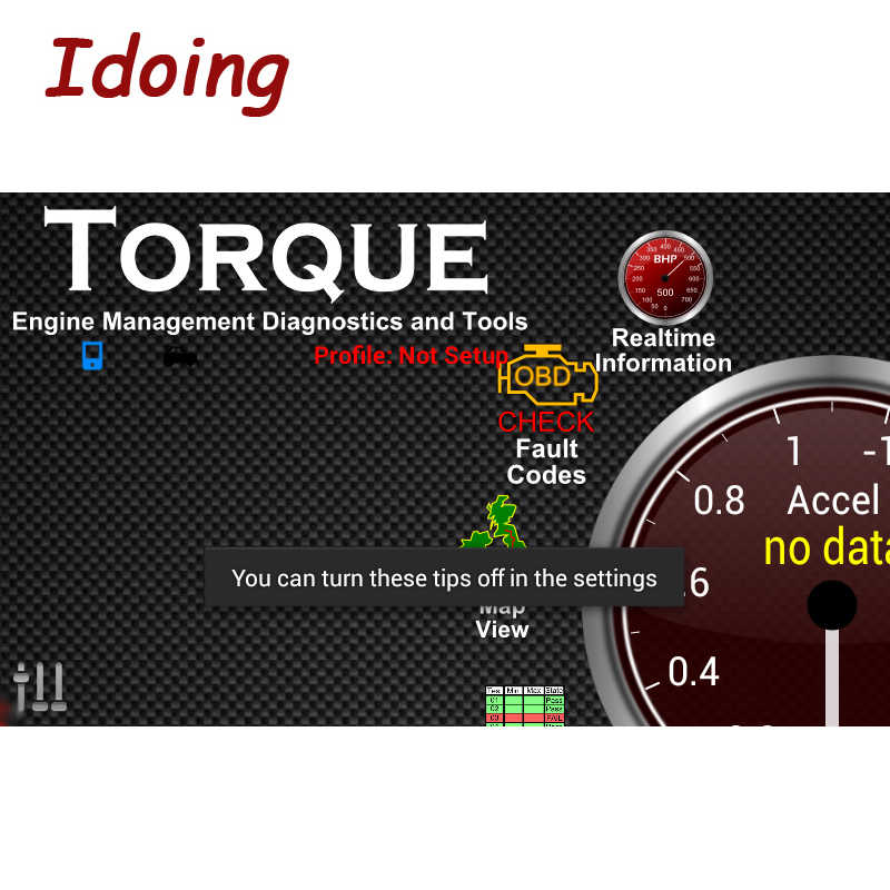 IDoing OBD2 OBD-II ELM 327 V1.5 Car Interface Scanner Werkt Voor Android Bluetooth Voertuig Diagnostic Tool