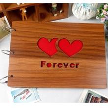 10 inch wooden album, album cover DIY handmade homemade baby growth couple memorial