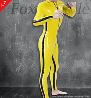 Nature Latex Glued Catsuit Zentai Hot Sale Latex Rubber Garment Clothing Wearing Suit For Man