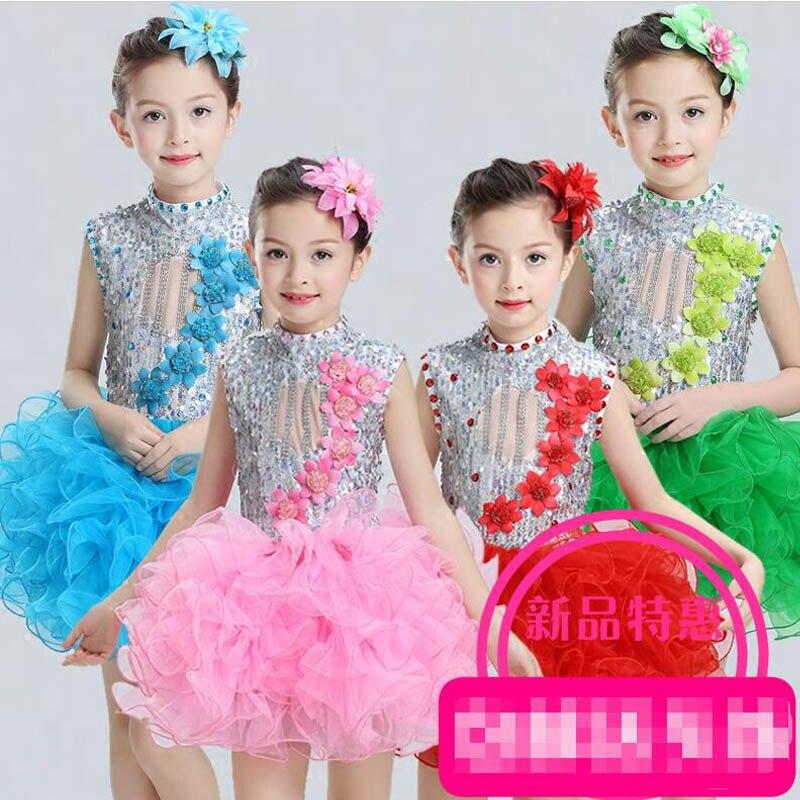 Балетное танцевальное платье с блестками для девочек; Детские вечерние платья для сальсы; платье на свадьбу; детское платье-пачка в стиле джаз