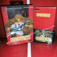 Sega MD Game Gaiares With Box And Manual For 16 Bit Sega MD Game Cartridge Megadrive