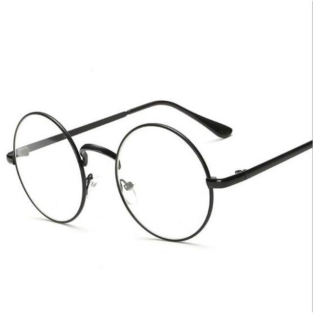 bf5f7cd75a08 Online Shop Peekaboo Cheap small round nerd glasses clear lens unisex gold  round metal frame glasses frame optical men women black uv