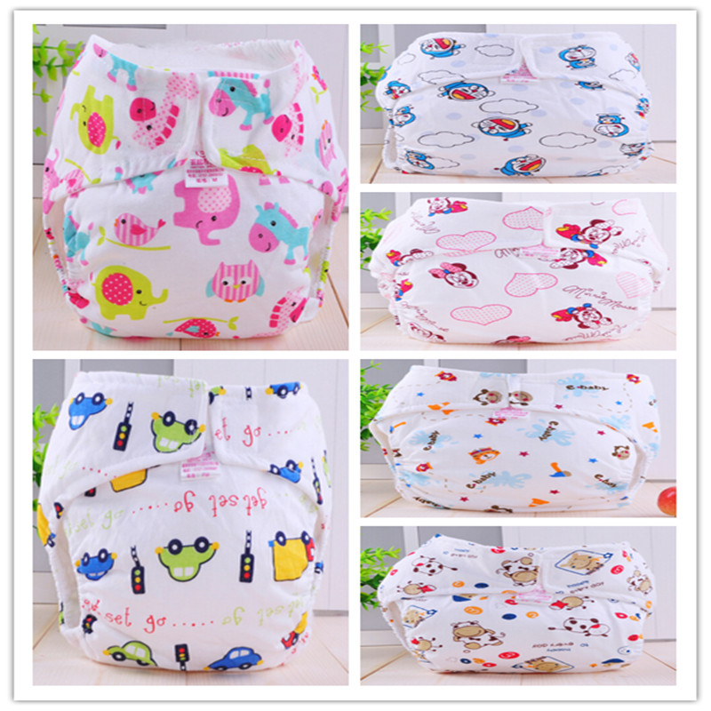 3 Pcs/lot 2015 NEW ! Baby Diapers Children Reusable Underwear Breathable Diaper Cover Cotton Training Pants Can Tracked
