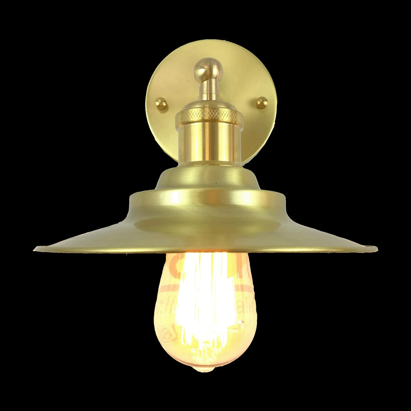 200mm diameter brass wall light edison vintage copper material sconce lamp bedroom decoration coffee shop hotel modern lighting