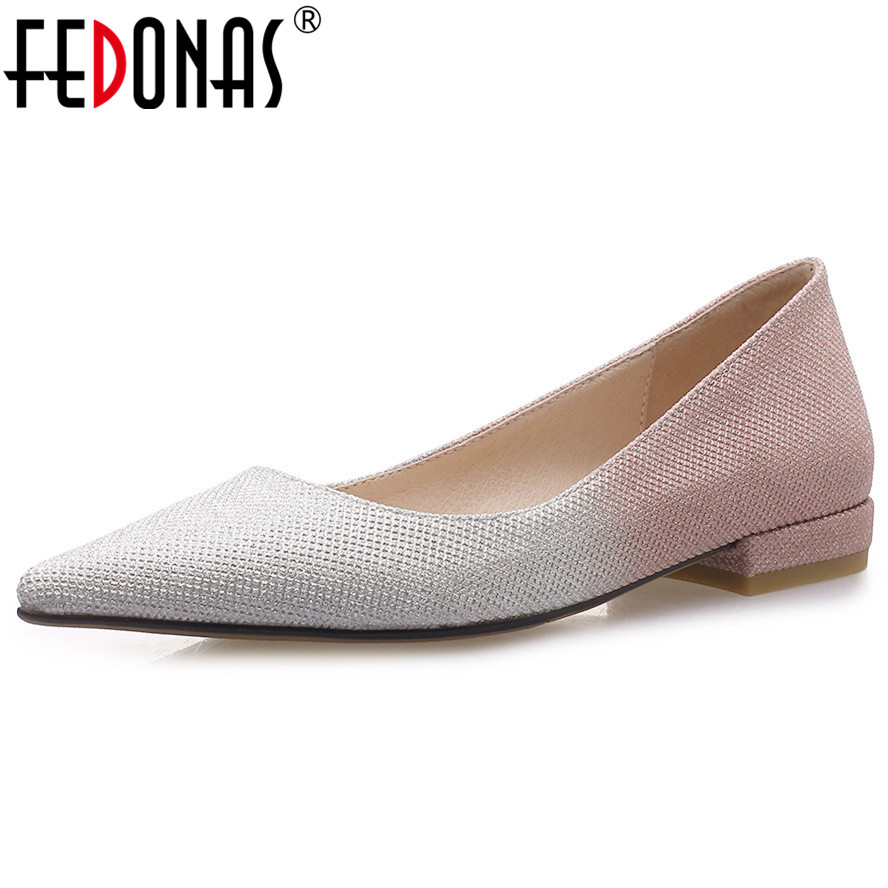 FEDONAS Fashion Sexy Women High Heels Basic Pumps Pointed Toe Slip On Party Wedding Shoes Woman