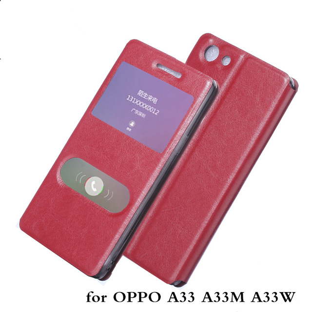 New case for OPPO A33 A33M A33W Case Hight Quality Smart Leather Phone Case Sleep Function  for OPPO A33 A33M A33W phone shell