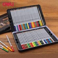 Дешевые Балык 2018 натурального дерева Цветные карандаши комплект 48 Цвета моющиеся акварель ручки для школы рисунок эскиз товары для рукоделия
