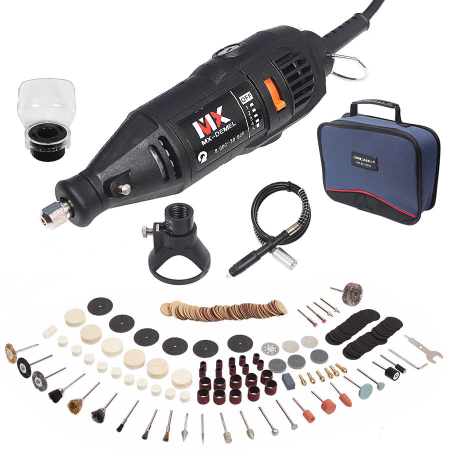 130W Electric Rotary Tool Variable Speed Multipro Drill Dremel Style Carving Pen Soft Shaft Accessories 264pcs Polishing Kits цена