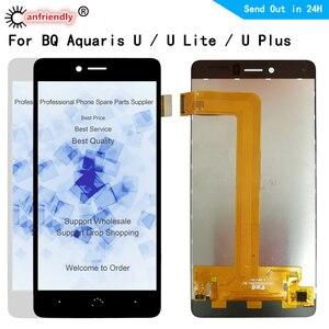 For BQ Aquaris U lite plus Ulite Uplus LCD Display+Touch Screen Digitizer with frame Assembly Panel Glass for BQ U plus U lite