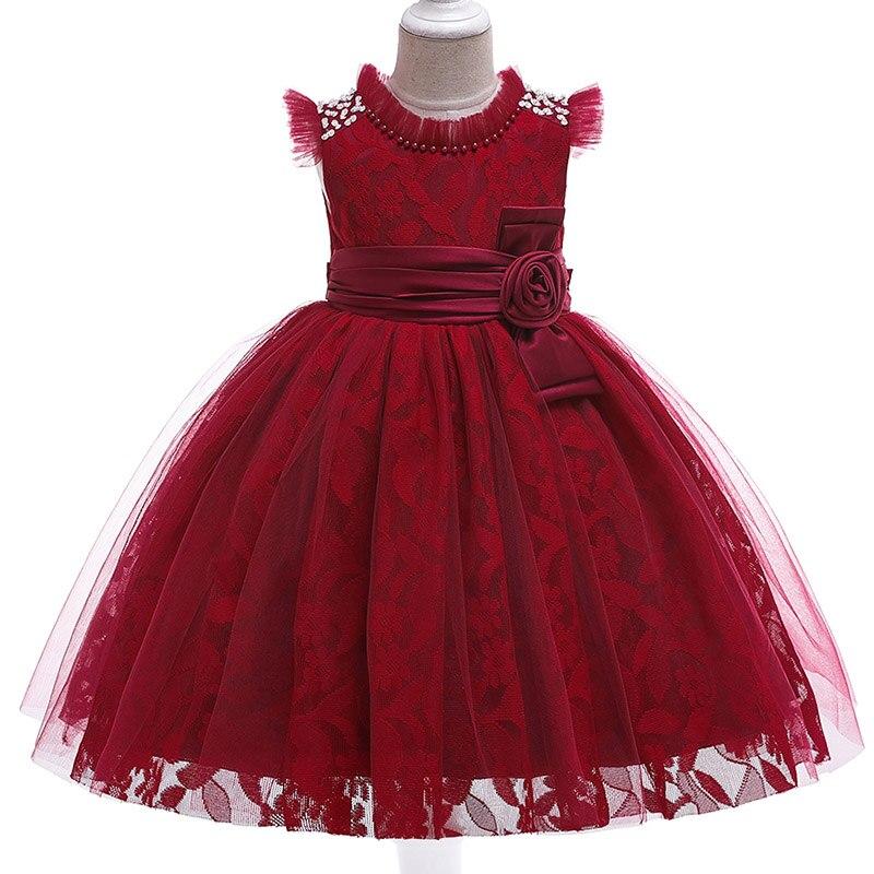 Children's Tutu Clothing Baby Costume Pageant Dresses Flower Girl Dresses Embroidery Mesh Girl Dresses For Weddings Kids L5121