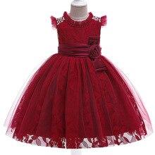 Детская одежда с юбкой-пачкой; костюм для малышей; пышные платья; Платья с цветочным узором для девочек; сетчатые платья с вышивкой для девочек на свадьбу; L5121