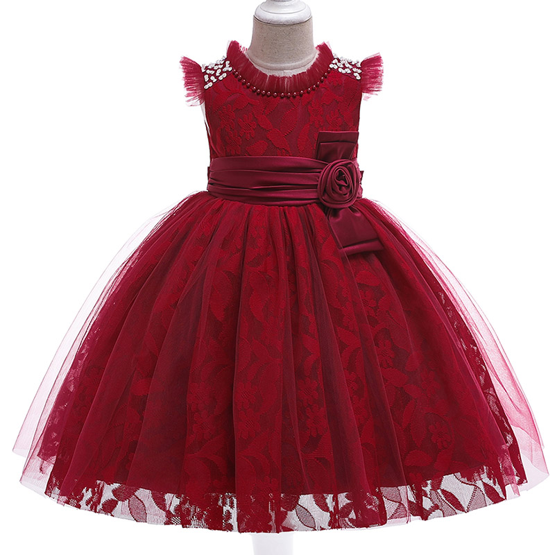 children's tutu clothing baby costume pageant   dresses     flower     girl     dresses   embroidery mesh   girl     dresses   for weddings kids L5121