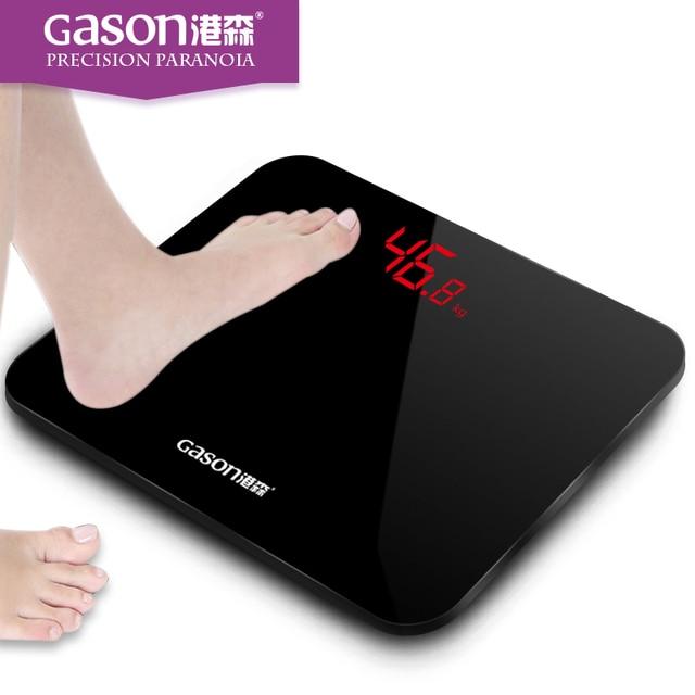 GASON A3 Ванная Комната напольные весы смарт-бытовой electronic ванная комната Тела цифровой ожирения СВЕТОДИОДНЫЙ дисплей цена Деления 180 кг = 400lb