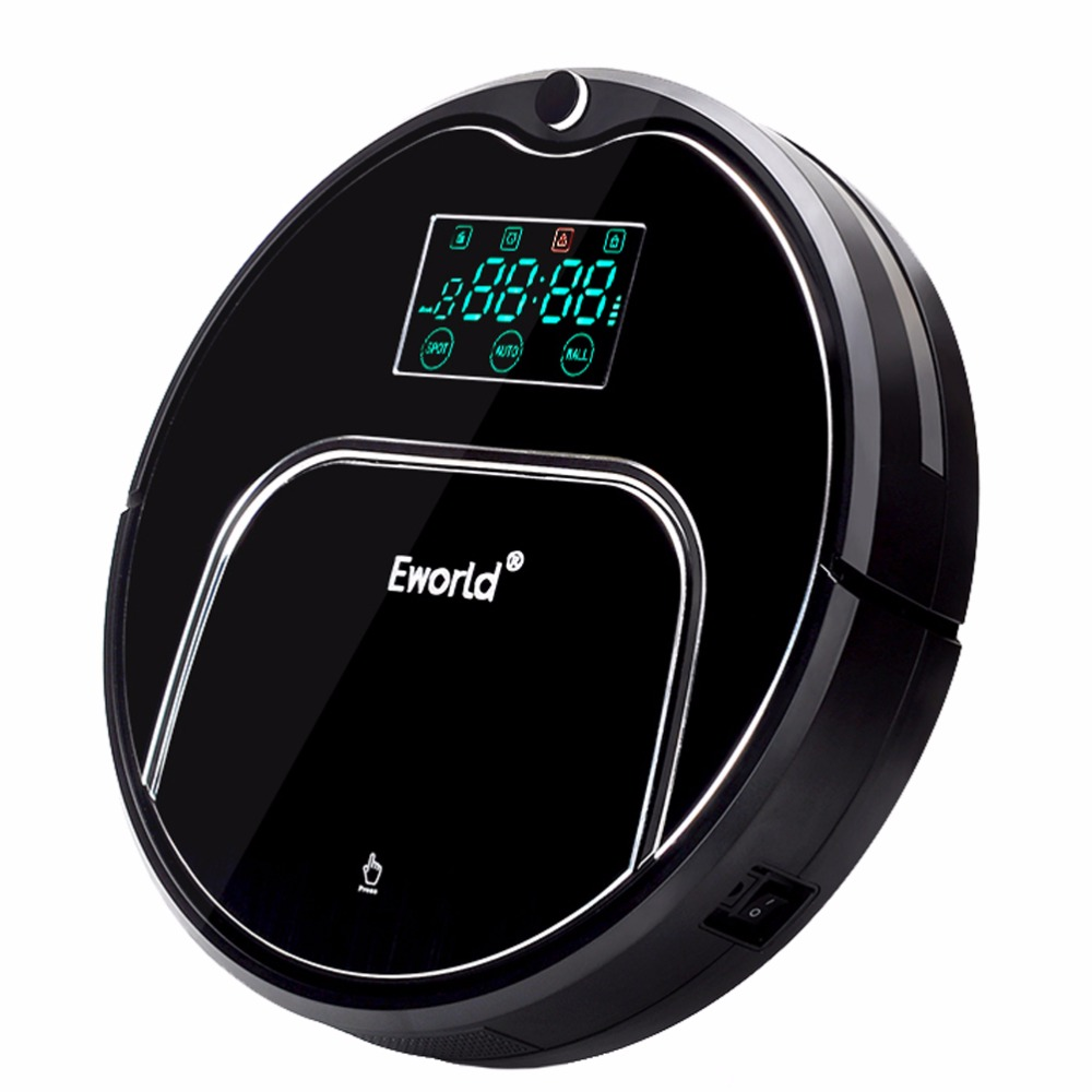 (Shiping from RUS) Eworld M883 Aluminium Alloy Robot Vacuum Cleaners for Dry Wet Cleaning Cordless Vacuum Cleaner for Home Clean 75 eureka c allergy mighty might canister vacuum bags white westinghouse floorshow cleaner home cleaning systm commercial vacuum cleaners 52318 52318 12 57697 12 filteraire 54921 10 54021 10 vip 9020 3015b 3035a 3035b 3035d 3020be s3191
