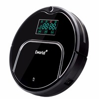 Eworld M883 ABS And Aluminium Alloy Robot Vacuum Cleaners For Dry Wet Cleaning 4 Colors Cordless