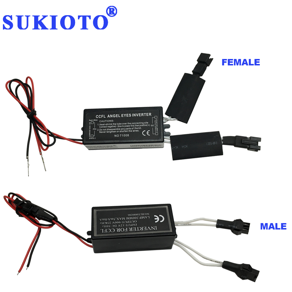 SUKIOTO 10PCS Driver CCFL Inverter Angel Eyes DRL Black 2 Outputs ccfl ballast e36 e46 e53 igniter Fires of angel eye halo rings-in Car Light Assembly from Automobiles & Motorcycles    1