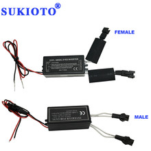 SUKIOTO 10PCS Driver CCFL Inverter Angel Eyes DRL Black 2 Outputs ccfl ballast e36 e46 e53 igniter Fires of angel eye halo rings