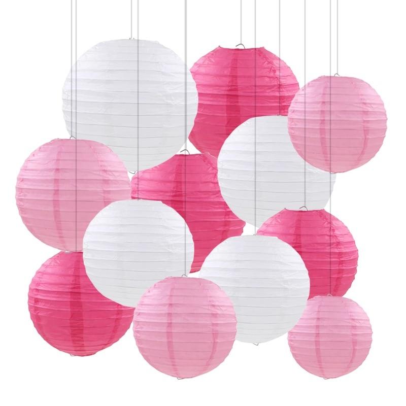 20pcs/set 6-12'' White Chinese Paper Lantern Ball Lampion Wedding BabyShower Decorations Paper Lampshade Engagement Party Decor