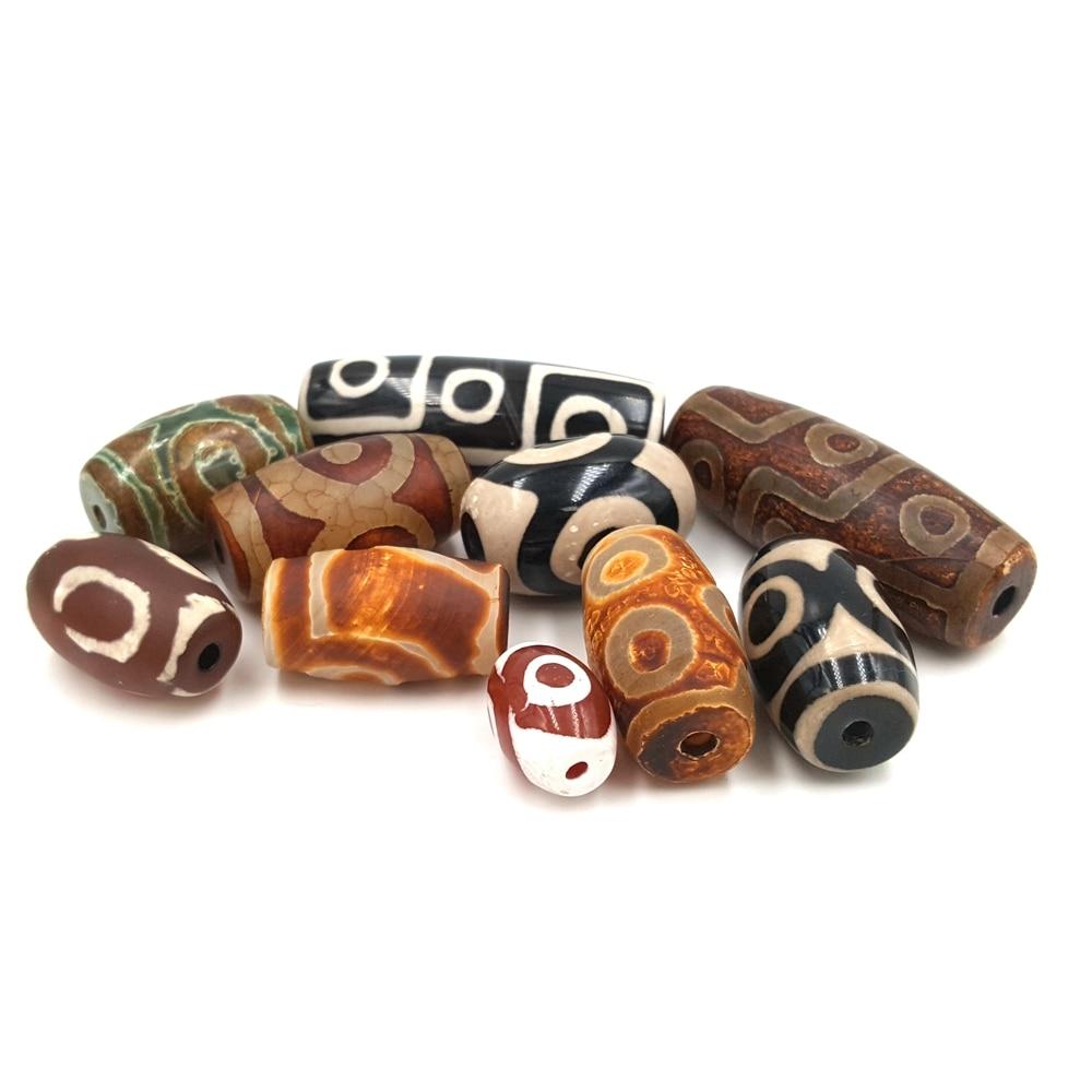 Lii Ji DZI Eye's Beads Natural Stone Agate Bead For DIY Jewelry Making Bracelet Or Neckalce 10pcs/Bag