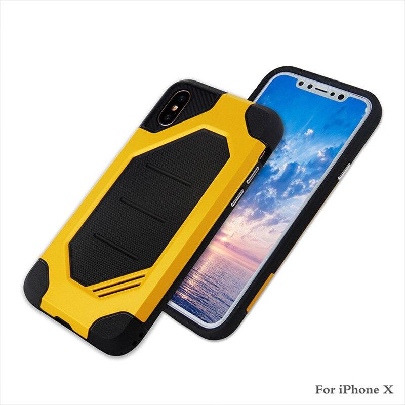 Super Hybride Armure étui rigide Béquille TPU + PC Antichoc Téléphone étui pour iPhone 4.7 5.5 iPhone 8 X