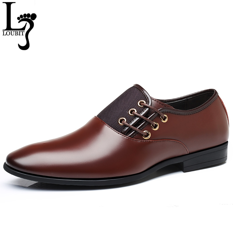 Fashion Man Dress Shoes Men Formal Business Office Wedding Dress Shoes Mens' Luxury Brand Leather Shoes Male Oxfords Big Size