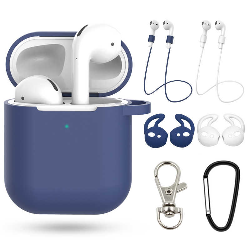 7Pcs/Set Perfect Case For airpods 2 skins  For Apple Air pods 2 Earphone Protective Cover Waterproof Cases accessories