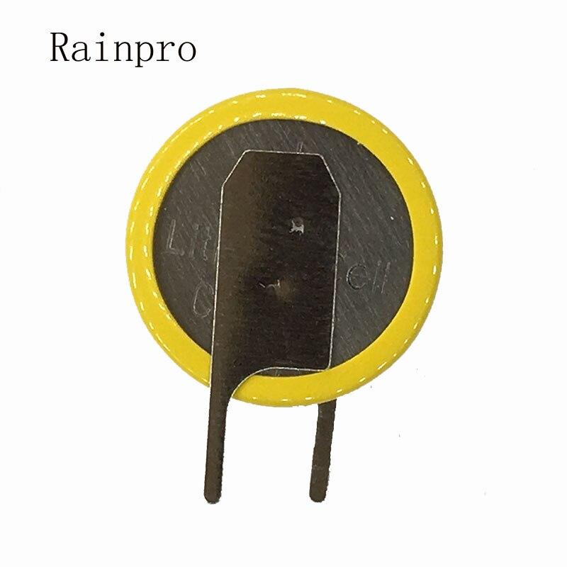 Rainpro 2PCS/LOT Right Knife CR1220 1220  Button Battery Vertical Welding Pin 3V 2 Pins.
