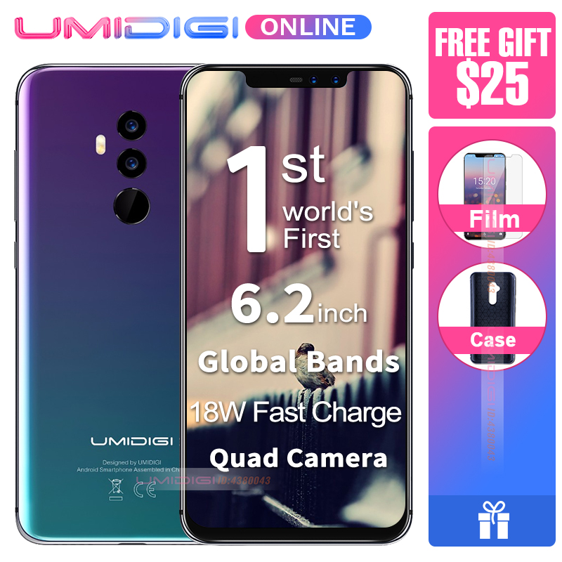 "UMIDIGI Z2 Global Version 6.2"" Full Screen smartphone Android 8.1 6GB RAM Octa Core 16MP Quad Camera 4G LTE Mobile Phone"
