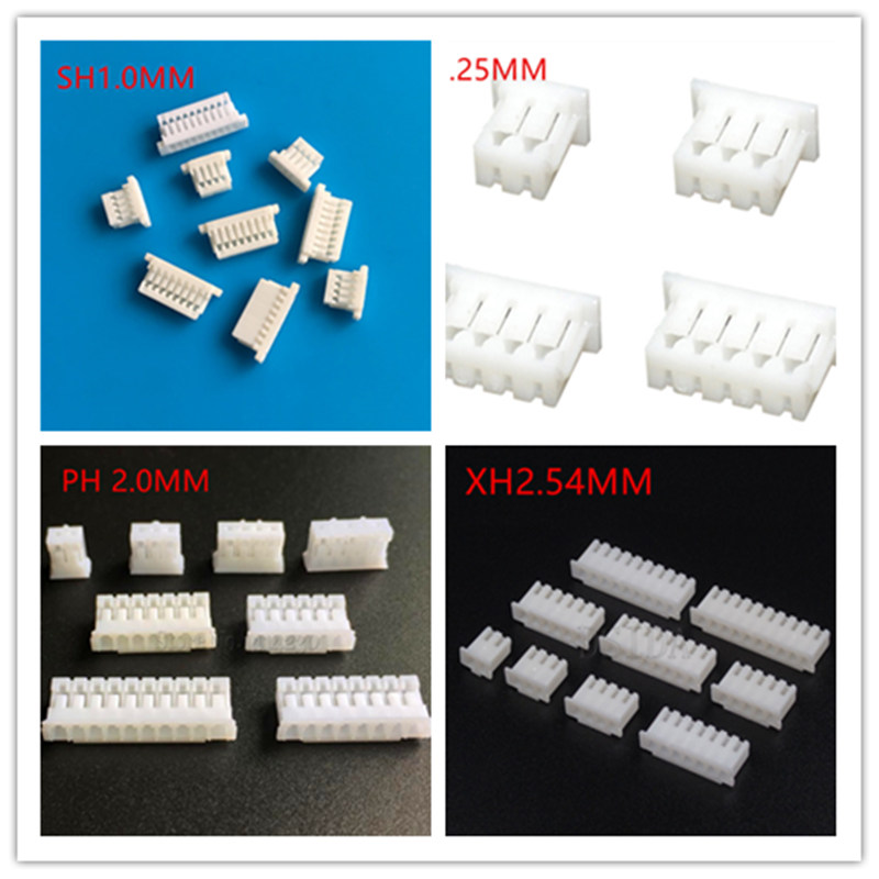 50 Pcs Micro Mini JST 1.25mm SH 1.0mm PH 2.0mm XH 2.5mm 2/3/4/5/6/7/8/9/10/11/12P Connector