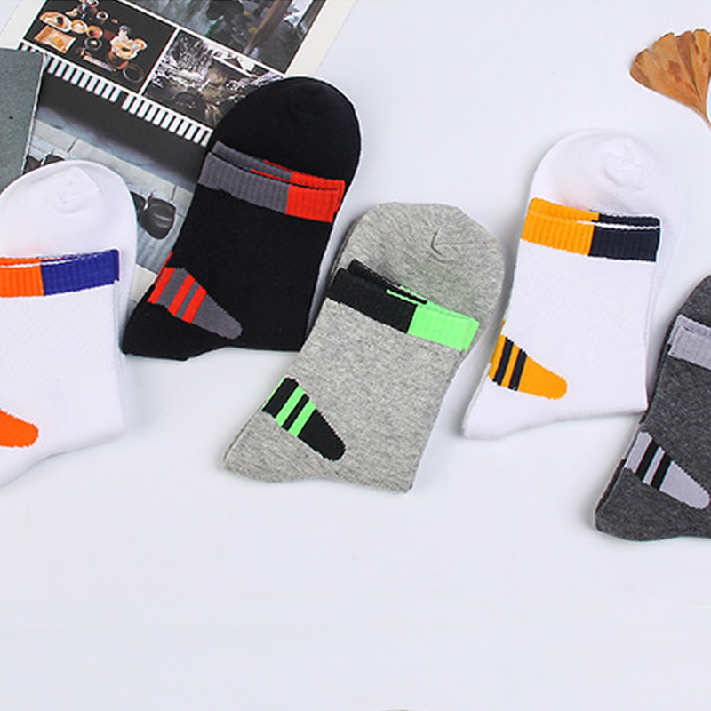 Harajuku Solid Women Men Brand Calcetines Shot Cotton Socks Meias Casual Sweat Comfortable Breathable Mens Socks Novelty Sokken