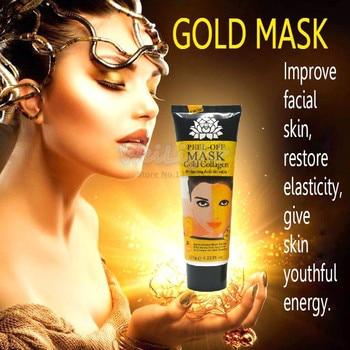 100% Original máscara de ouro 24K Máscara facial anti-rugas para cuidados com o rosto, aperta a pele, clareando máscaras faciais para endurecimento facial 1