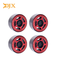 4PCS Alloy 2.2 Beadlock Wheel Rims for 1/10 RC Crawler Traxxas TRX 4 Axial SCX10 & SCX10 II D90 CC01 D110