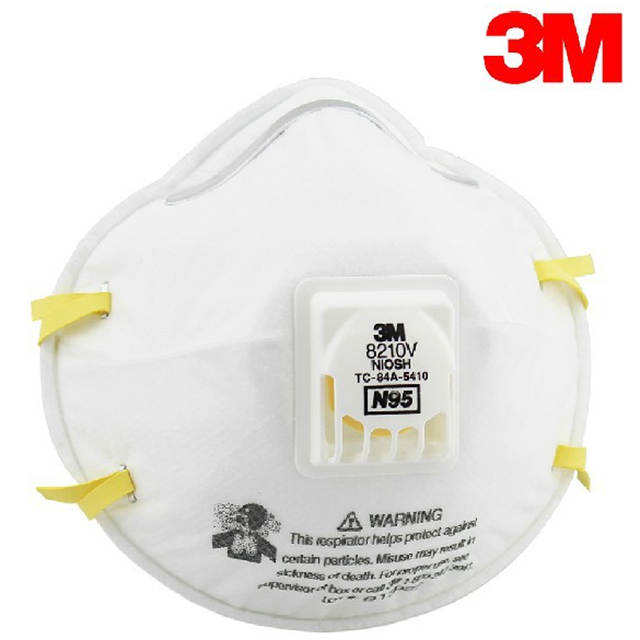 2pcs 5 Mask Respirator Pm2 Dust Valve 8210v Breathing Non 3m