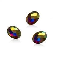YANRUO 4*6mm, 6*8mm AB Crystal Posterior Plana Rhinestone Del Arte Del Clavo de la Manicura Consejos Charms 3D Brillante Decoración de Cristal DIY Uñas