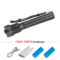 Super bright led flashlight 18650 or 26650 cree xhp70 usb torch flashlight zoomble Rechargeable lampe torche hunting hand lamp