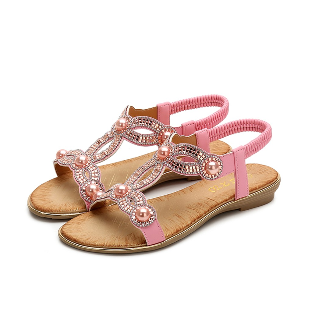 SAGACE Women Ladies Crystal Flat Bohemia Sandals Beach Casual Peep Toe Shoes Sexy High Quality Outside Summer Ladies ShoesSAGACE Women Ladies Crystal Flat Bohemia Sandals Beach Casual Peep Toe Shoes Sexy High Quality Outside Summer Ladies Shoes