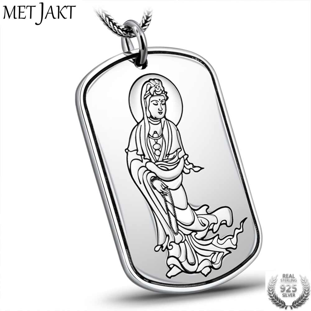MetJakt S999 Fine Silver Buddha Buddhist Heart Sutra Pendant and 925 Silver Snake Chain Necklace for Unisex Amulet JewelryMetJakt S999 Fine Silver Buddha Buddhist Heart Sutra Pendant and 925 Silver Snake Chain Necklace for Unisex Amulet Jewelry