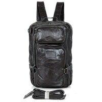 Высокое качество JMD, Оригинальные Кожа Твердые дорожный Рюкзак Bookbag 7039I