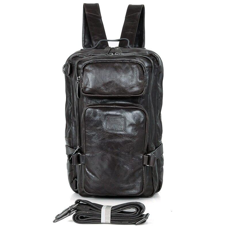 High Quality JMD Genuine Leather Solid Backpacks Travel Bag Bookbag 7039I sinix sinix 7039