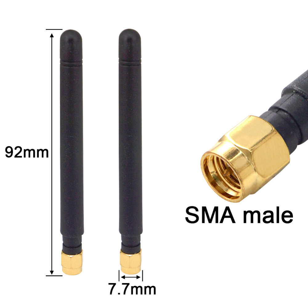 10PCS 433MHZ Antenna SMA Male Plug Modem Router Rubber Wlan Straight Connector