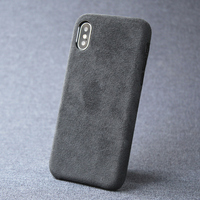 Case For iPhone 7 8 plus X XS Max XR luxury Italian Suede like Fabric Cover Downy Leather Capa a layer of premium to phone Shell