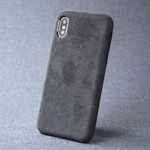 Image 1 - Case For iPhone 7 8 plus X XS Max XR luxury Italian Suede like Fabric Cover Downy Leather Capa a layer of premium to phone Shell