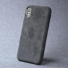 Чехол для iPhone 7 8 plus X XS Max XR, Роскошный итальянский замшевый тканевый чехол, пушистый кожаный чехол, чехол премиум класса для телефона