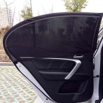 2 sztuk pokrywa okna samochodu osłona przeciwsłoneczna UV warstwa ochronna słońce siatka zacieniająca Solar Mosquito ochrona przeciwpyłowa tanie i dobre opinie Mesh AUMOHALL 52cm*94cm