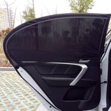 2Pcs Car Window Cover Sunshade Curtain UV Protection Shield Sun Shade Mesh Solar Mosquito Dust Protection(China)