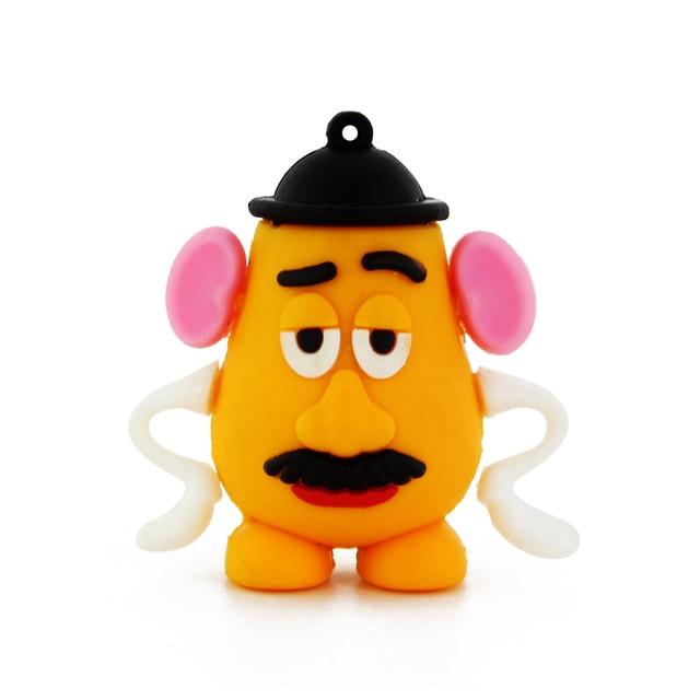 Cartoon Crystal Toy Story Mr. Potato Head USB Flash Drive Best Gift 4GB 8GB 16GB 32GB 64GB Memory Stick U Disk Thumb Pen Drive
